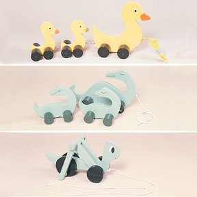 Woodworking Project Paper Plan to Build Pull Toy Trio, Plan No. 765