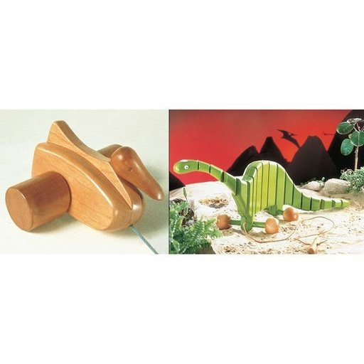 View a Larger Image of Woodworking Project Paper Plan to Build Pull Toys