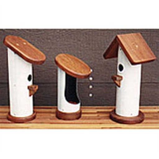 View a Larger Image of Woodworking Project Paper Plan to Build PVC Bird Houses
