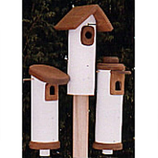View a Larger Image of Woodworking Project Paper Plan to Build PVC Bluebird Houses