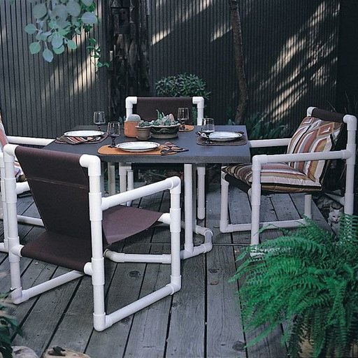 View a Larger Image of Woodworking Project Paper Plan to Build PVC Dining Set, Plan No. 665
