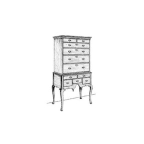 Woodworking Project Paper Plan to Build Queen Anne Highboy