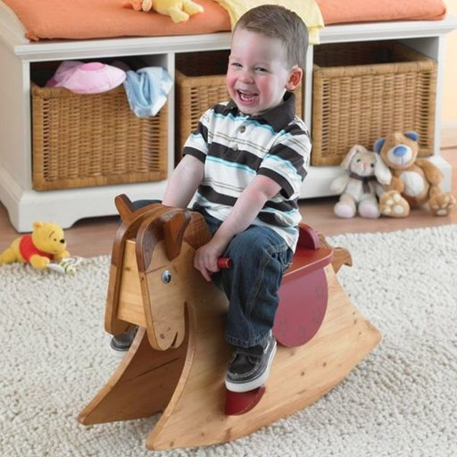 View a Larger Image of Woodworking Project Paper Plan to Build Quick and Easy Rocking Horse