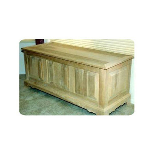 View a Larger Image of Woodworking Project Paper Plan to Build Raised Panel Hope Chest