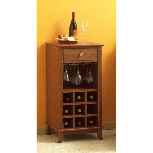 View a Larger Image of Woodworking Project Paper Plan to Build Ready-to-Serve Wine Cabinet