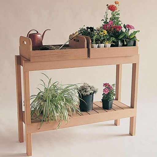 View a Larger Image of Woodworking Project Paper Plan to Build Redwood Plant Table, Plan No. 791