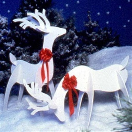 View a Larger Image of Woodworking Project Paper Plan to Build Reindeer