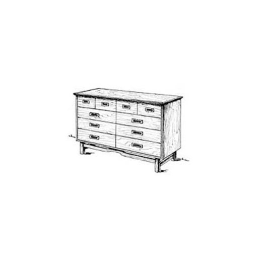 View a Larger Image of Woodworking Project Paper Plan to Build Retro Double Dresser