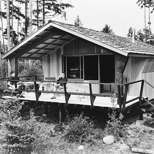 View a Larger Image of Woodworking Project Paper Plan to Build Rigid Frame Cabin, Plan No. 370