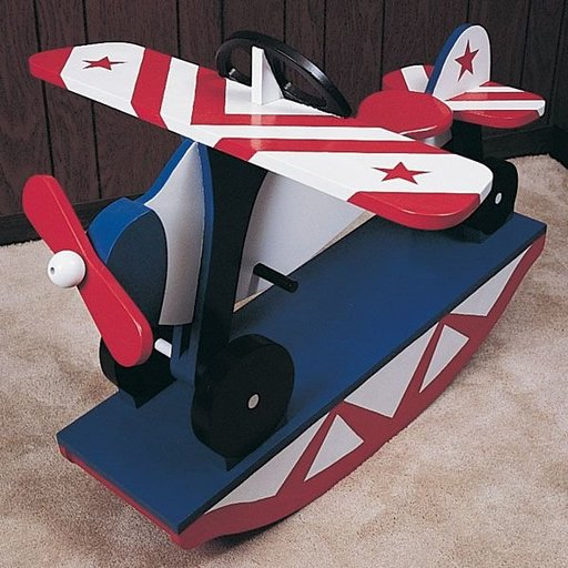 View a Larger Image of Woodworking Project Paper Plan to Build Rocking Airplane, No. 783