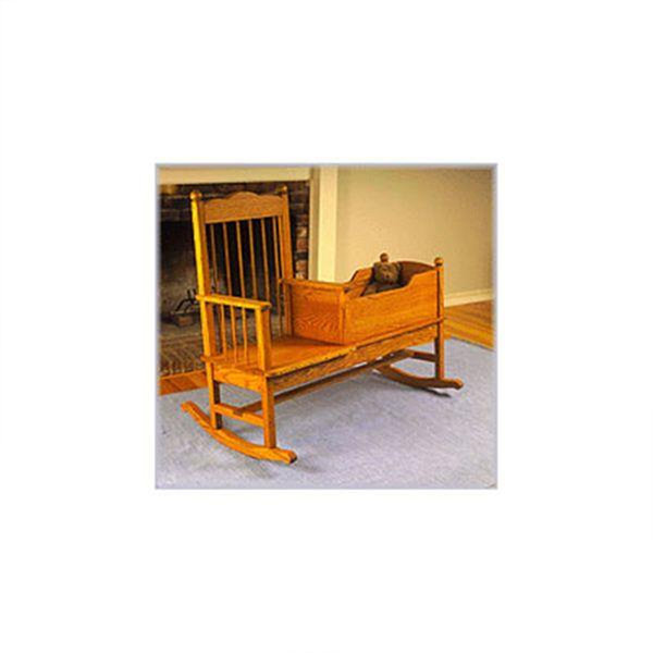 View A Larger Image Of Woodworking Project Paper Plan To Build Rocking Chair /Cradle Combo