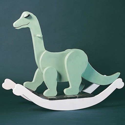 View a Larger Image of Woodworking Project Paper Plan to Build Rocking Dinosaur, Plan No. 815