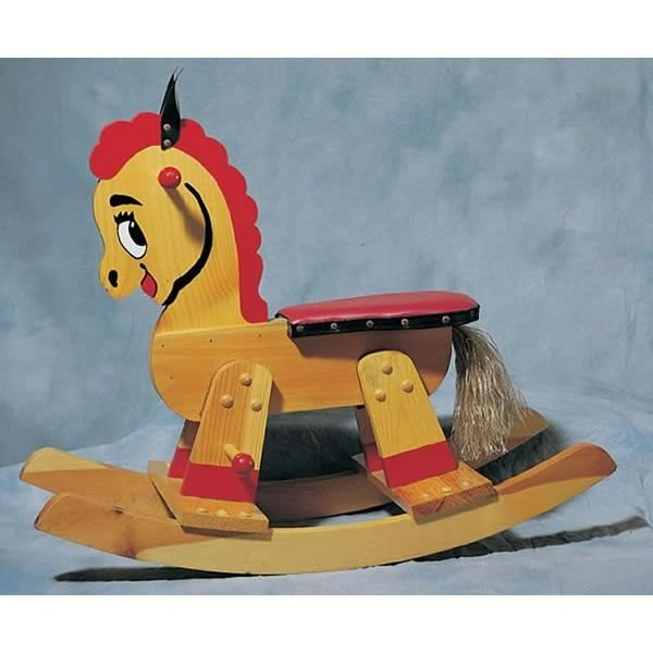 ... Larger Image of Woodworking Project Paper Plan to Build Rocking Horse