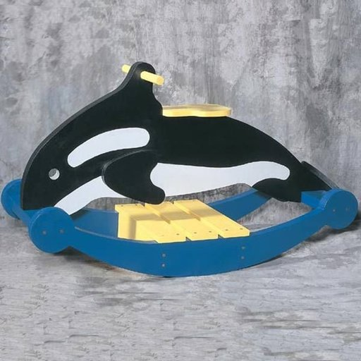 View a Larger Image of Woodworking Project Paper Plan to Build Rocking Whale, Plan No. 913