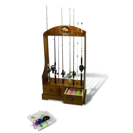 View a Larger Image of Woodworking Project Paper Plan to Build Rod Reel and Tackle Stand