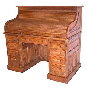 Woodworking Project Paper Plan to Build Roll Top Desk, AFD151