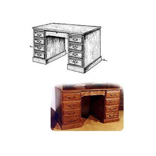 View a Larger Image of Woodworking Project Paper Plan to Build Roll Top Desk (Lower Portion)
