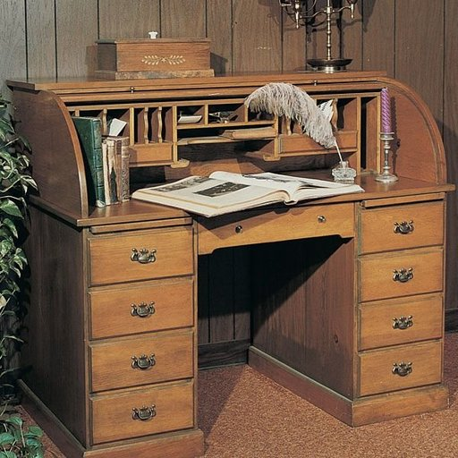 View a Larger Image of Woodworking Project Paper Plan to Build Roll-Top Desk, Plan No. 571