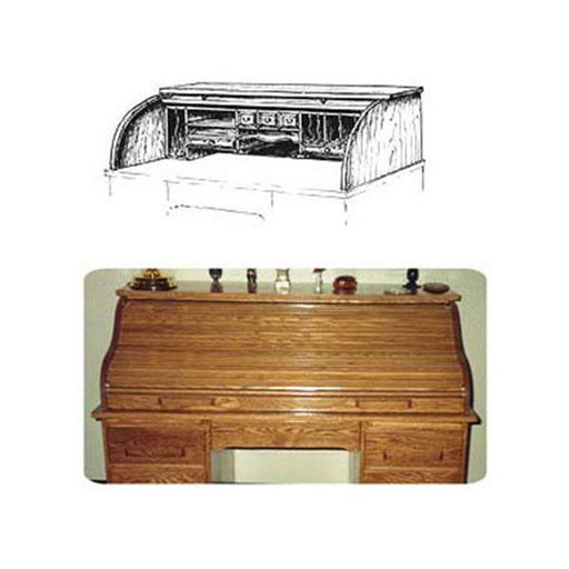 View a Larger Image of Woodworking Project Paper Plan to Build Roll Top Tambor (Upper Portion)