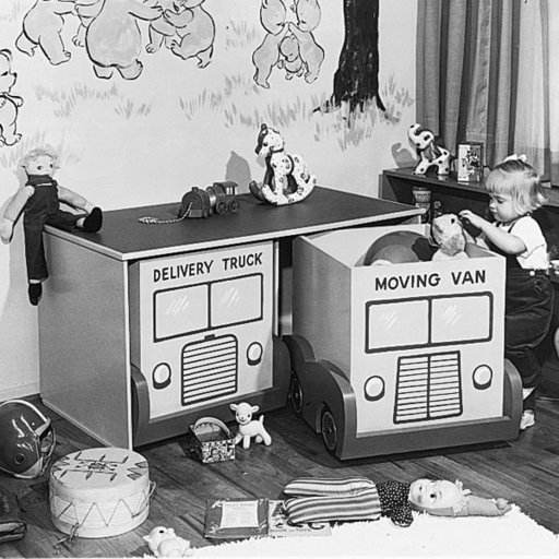 View a Larger Image of Woodworking Project Paper Plan to Build Rolling Toy Storage, Plan No. 546