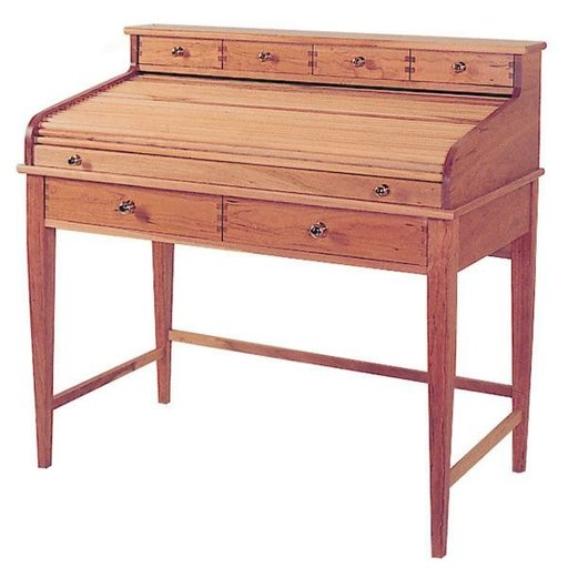 View a Larger Image of Woodworking Project Paper Plan to Build Rolltop Writing Desk
