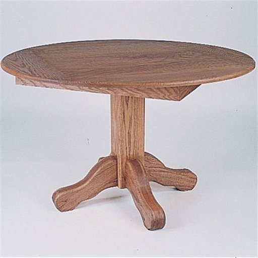 View a Larger Image of Woodworking Project Paper Plan to Build Round Oak Table, Plan No. 722