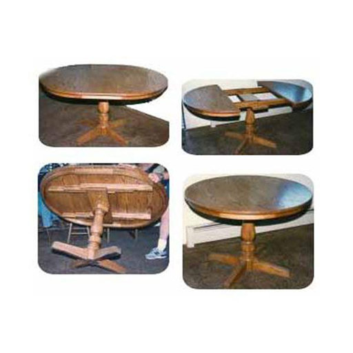 View a Larger Image of Woodworking Project Paper Plan to Build Round Pedestal Extension Table