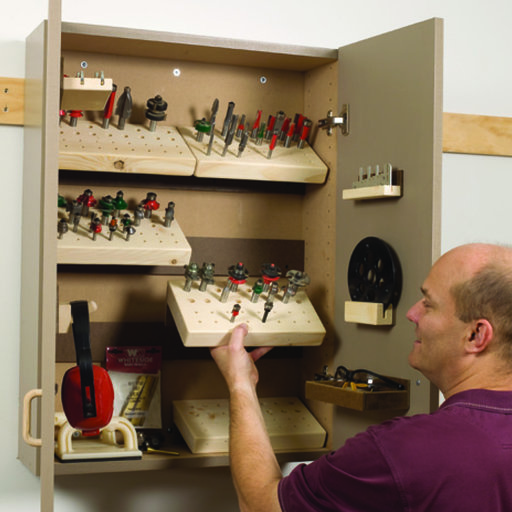 View a Larger Image of Woodworking Project Paper Plan to Build Router Cabinet