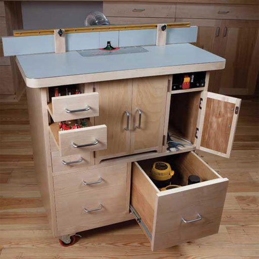 View a Larger Image of Woodworking Project Paper Plan to Build Router Table