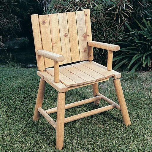 View a Larger Image of Woodworking Project Paper Plan to Build Rustic Chair, Plan No. 772