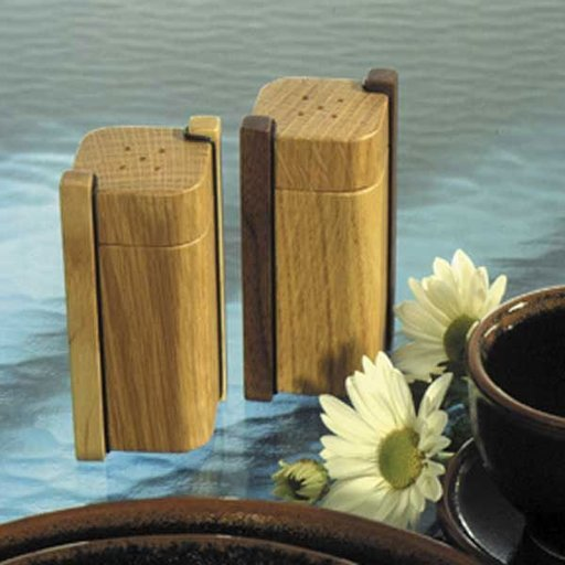 View a Larger Image of Woodworking Project Paper Plan to Build Salt & Pepper Shakers