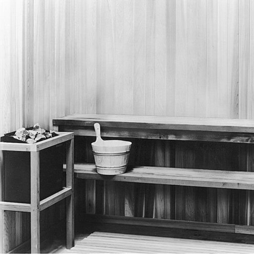 View a Larger Image of Woodworking Project Paper Plan to Build Sauna, Plan No. 563