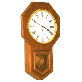 Woodworking Project Paper Plan to Build School House Clock, AFD173