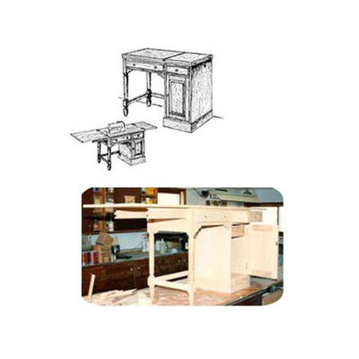 View a Larger Image of Woodworking Project Paper Plan to Build Sewing Desk