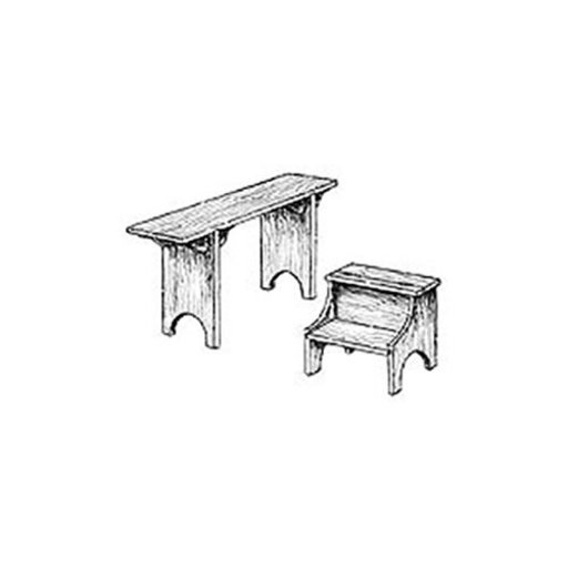 View a Larger Image of Woodworking Project Paper Plan to Build Shaker Bench and Step