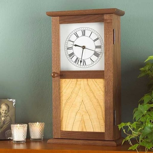 View a Larger Image of Woodworking Project Paper Plan to Build Shaker Clock