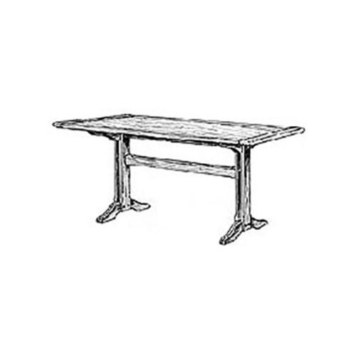 View a Larger Image of Woodworking Project Paper Plan to Build Shaker Dining Table