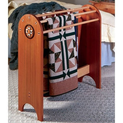 View a Larger Image of Woodworking Project Paper Plan to Build Shaker Quilt Stand