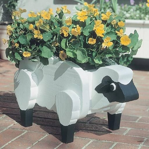 View a Larger Image of Woodworking Project Paper Plan to Build Sheep Planter, Plan No. 909