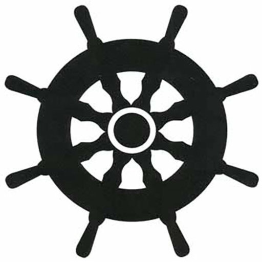 View a Larger Image of Woodworking Project Paper Plan to Build Ships Wheel Shadow