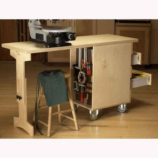 View a Larger Image of Woodworking Project Paper Plan to Build Shop Cart/Workbench