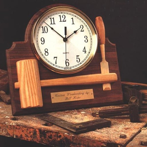 View a Larger Image of Woodworking Project Paper Plan to Build Signature Shop Clock
