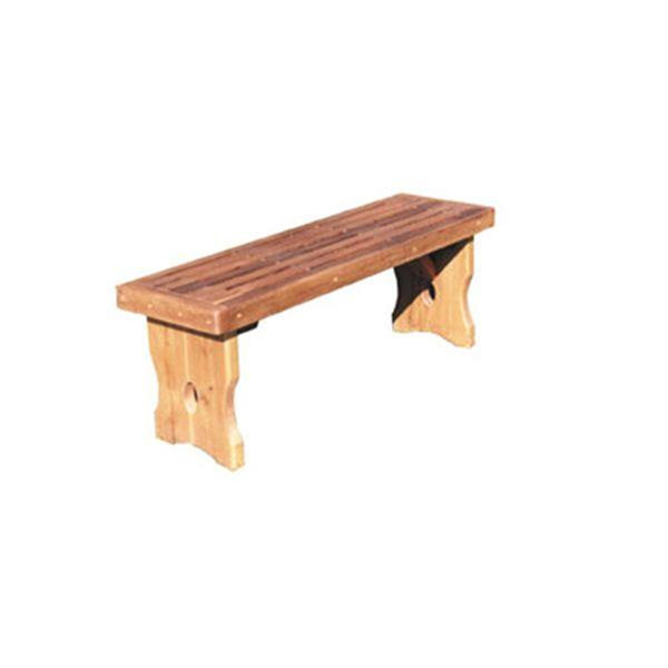 image of woodworking project paper plan to build simple garden bench
