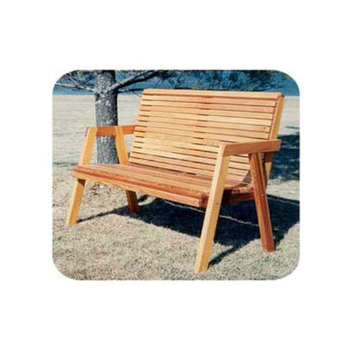 View a Larger Image of Woodworking Project Paper Plan to Build Simple Patio Bench