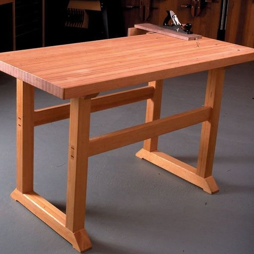 View a Larger Image of Woodworking Project Paper Plan to Build Simple-to-Build Workbench