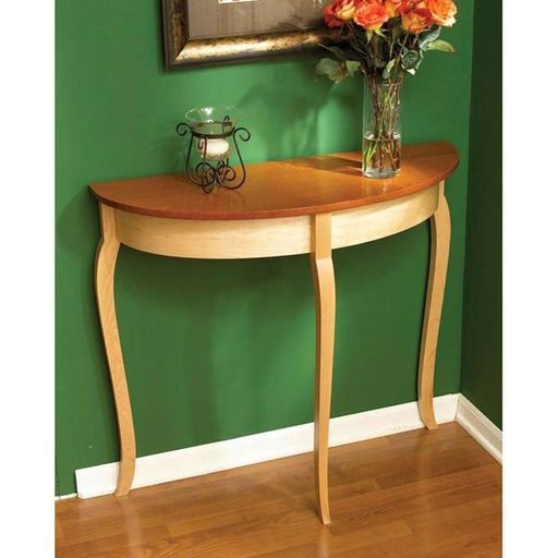 View a Larger Image of Woodworking Project Paper Plan to Build Simply Graceful Bow Front Table