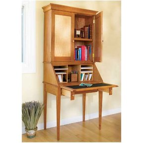 Woodworking Project Paper Plan to Build Slant-Front Secretary