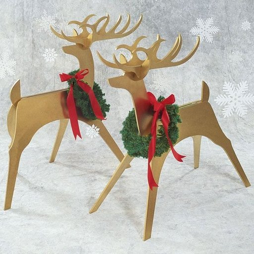 View a Larger Image of Woodworking Project Paper Plan to Build Sleek & Stylish Reindeer