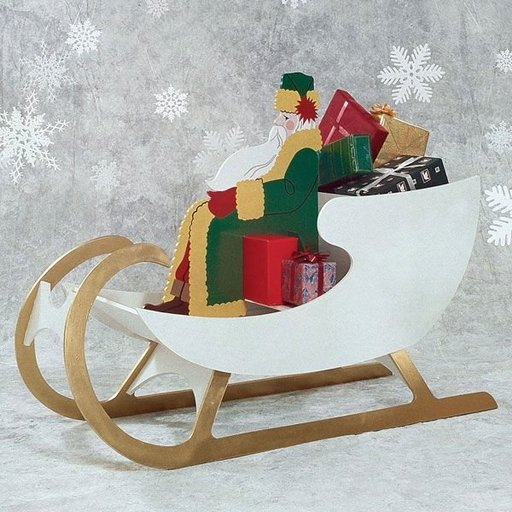 View a Larger Image of Woodworking Project Paper Plan to Build Sleigh For Saint Nick