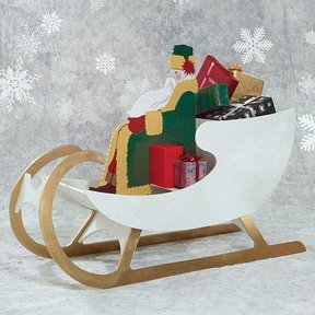 Woodworking Project Paper Plan to Build Sleigh For Saint Nick